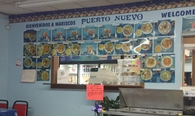 Mariscos Puerto Nuevo in Garden City hit with 14 violations following complaint inspection; hand sink turned off, clean metal pans with a crusty white residue around the bottom and edges of the pans
