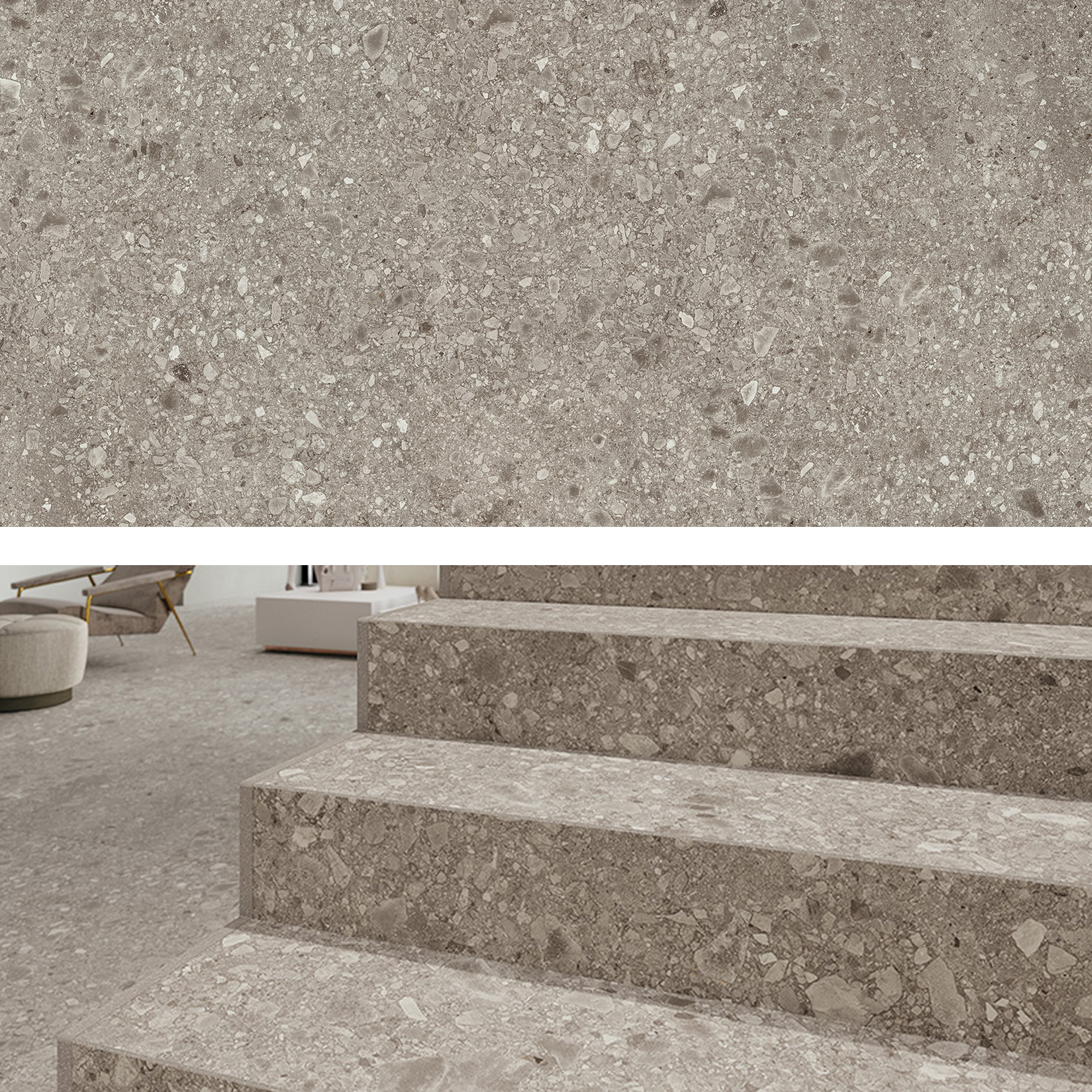 Porcelain Stairs Colorstone remodeling