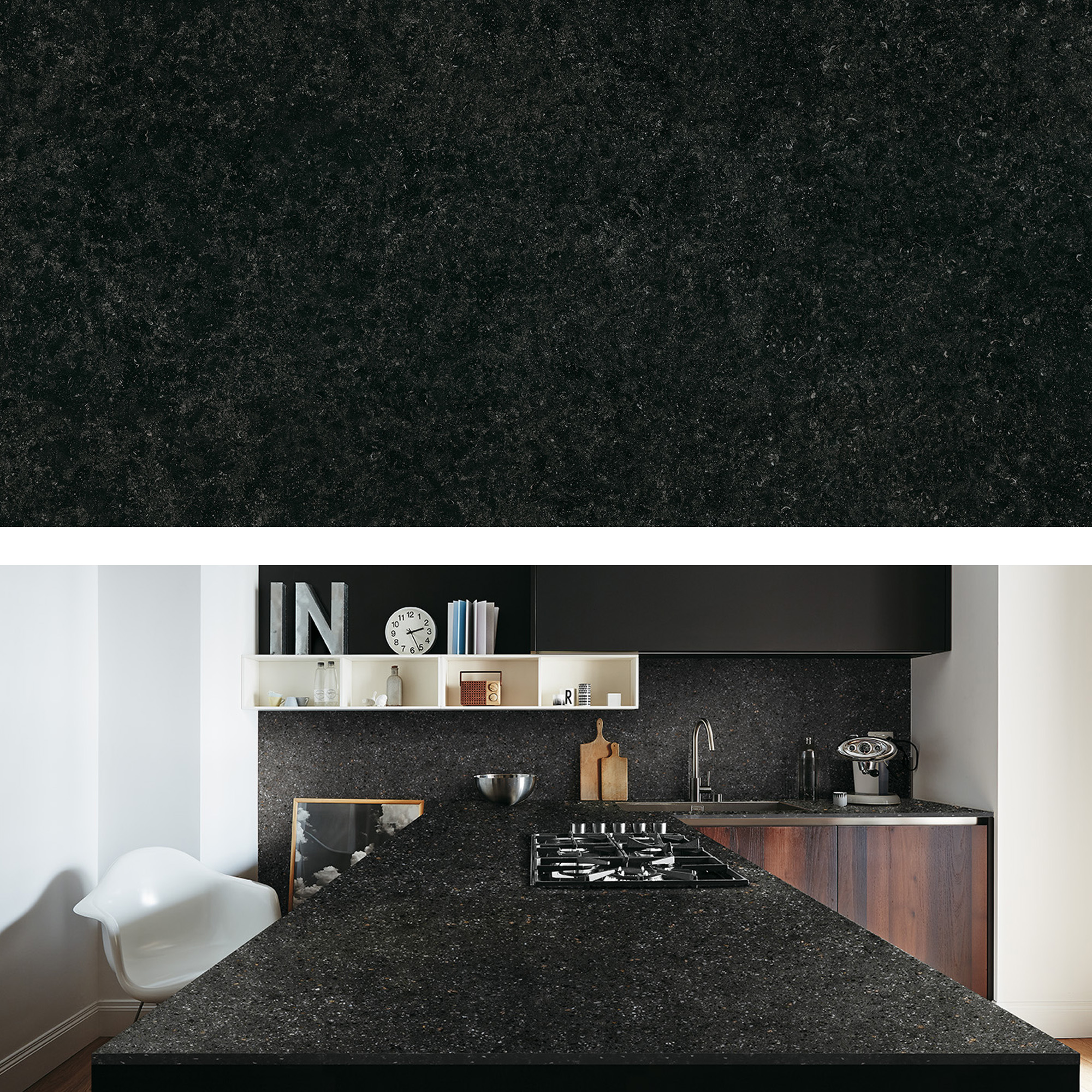 Porcelain Terrazzo Black