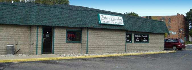 Petersen Jeweler Store Front Jackson Michigan