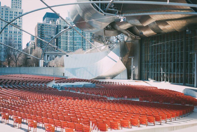 Outdoor, empty amphitheater