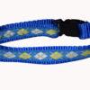 Argyle Blue Dog and Cat Collar