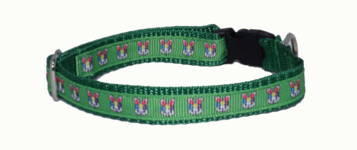 Easter Bunnies Green Dog and Cat Collars