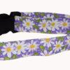 Flower Daisy Purple Cotton Dog Collar