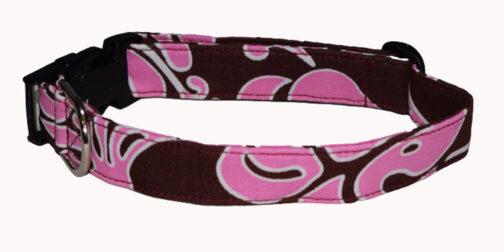 Hawaiian Pink/Brown Dog Collar