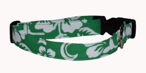 Hawaiian Green Dog Collar
