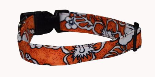 Hawaiian Orange Dog Collar