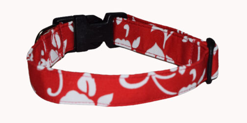 Hawaiian Red Dog Collar
