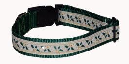 Ivy Green Christmas Dog Collar