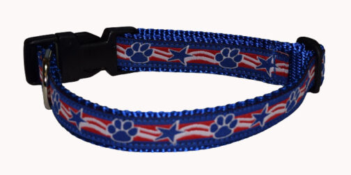 Patriotic Paws and Stars Dog Collars