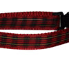 Plaid Red Gold Dog and Cat Collars