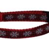 Snowflake Check Dog and Cat Collars