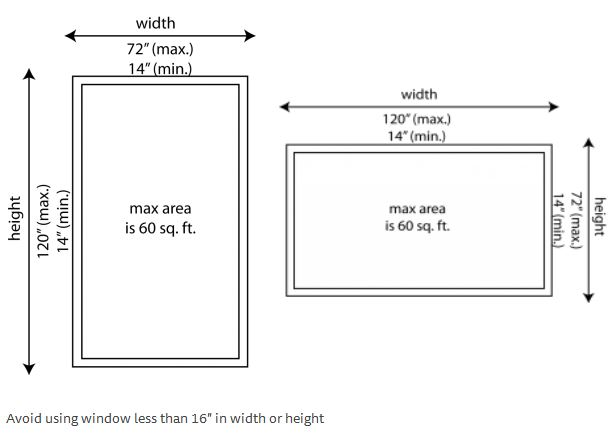 Fixed Window Series 410 – Sizes