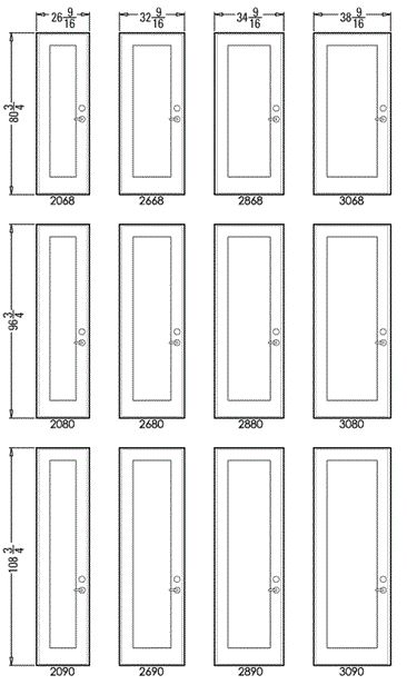 French Series 450 – Sizes1