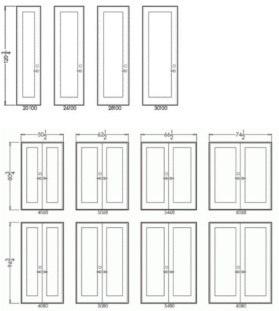 French Series 450 – Sizes2