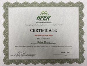 Certificate Smart Valve