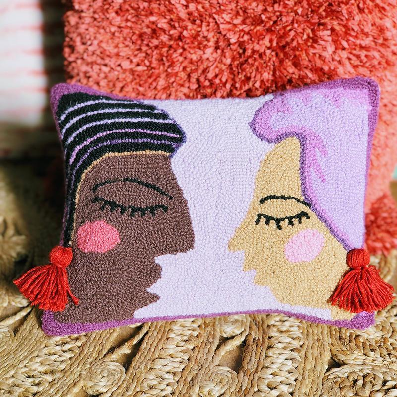 Duet hook pillow by Jungalow