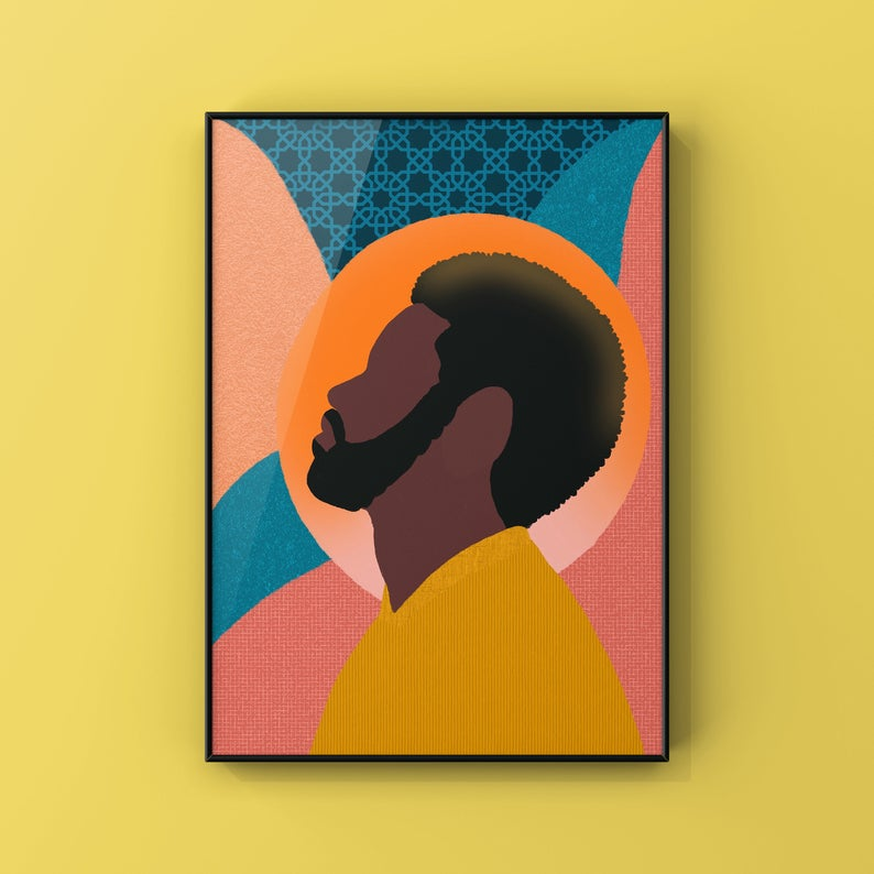Black man collage illustration