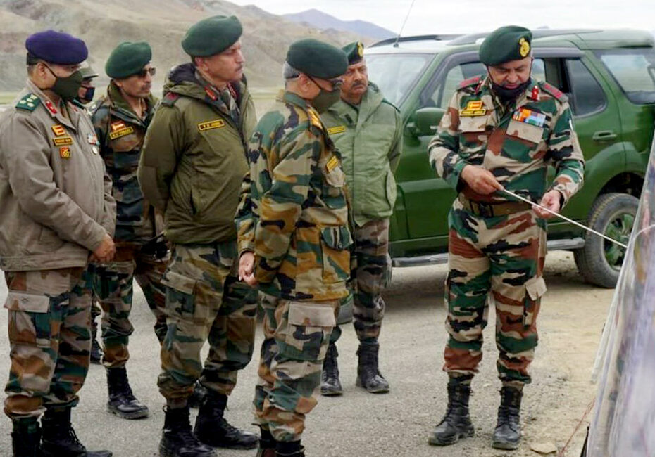 Ladakh, Sep 04 (ANI): Army Chief General Manoj Mukund Naravane visits Ladakh to review the security situation on Friday. (ANI Photo)