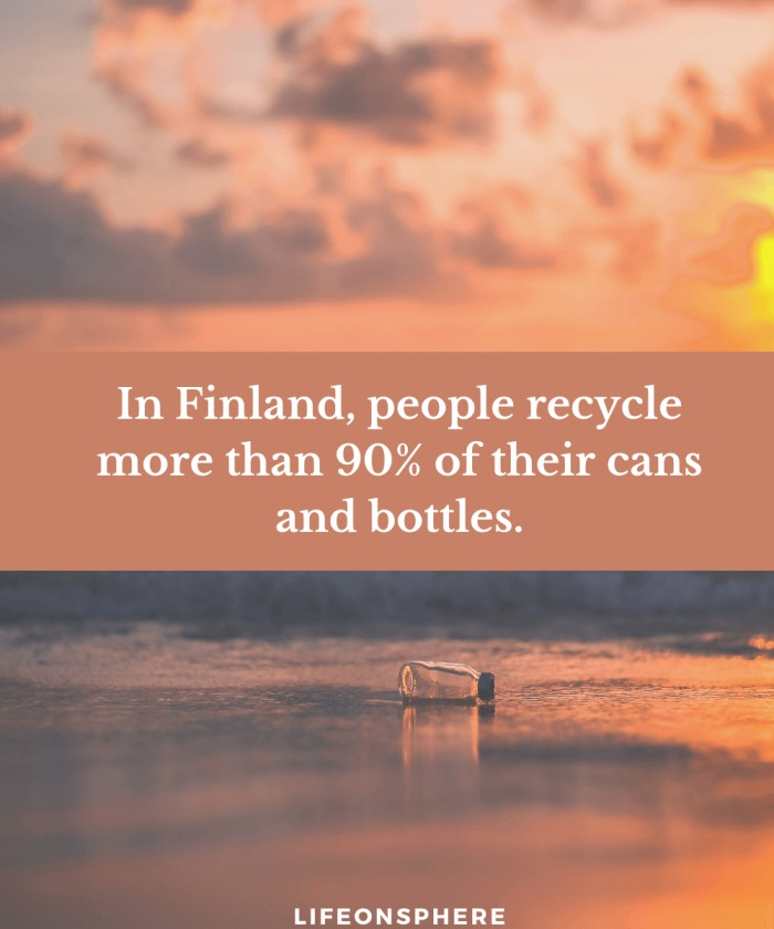 Most bottles recycled in Finland