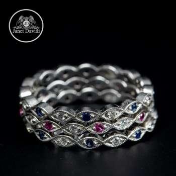 Diamond and Gemstone Bezel Set