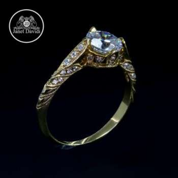 GRAINED DIAMOND ENGAGEMENT