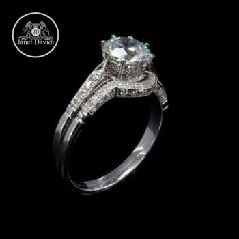 High Polish Wedding Set Ring