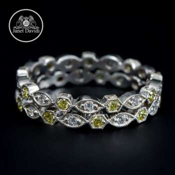Mill Grained Narrow Eternity Band