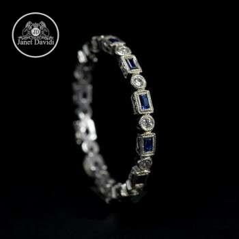 Blue Sapphire Bezel Set