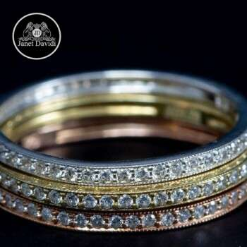 18 k Gold or Platinum Mill Grained