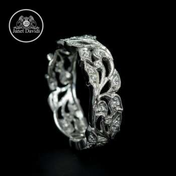Nature Inspired Stackable Wedding Ring