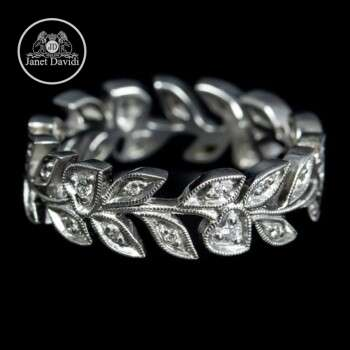 Wide Stackable Eternity Wedding Ring