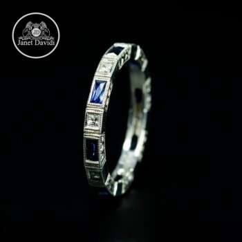 Art Deco Style Wedding Ring