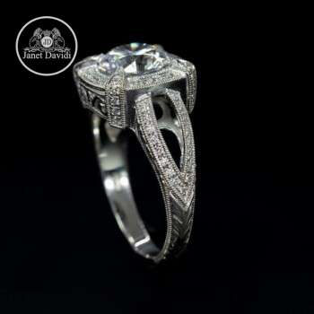 White Gold Diamond Filigree