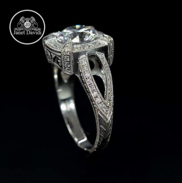White Gold Diamond Filigree