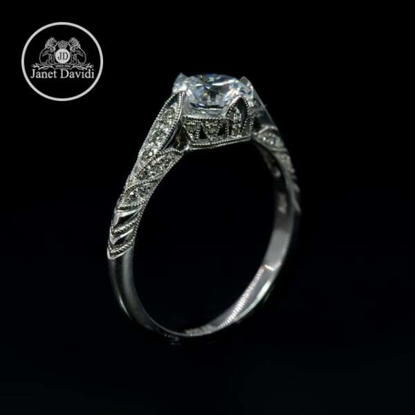 14 or 18 K Gold Mill Grained Diamond