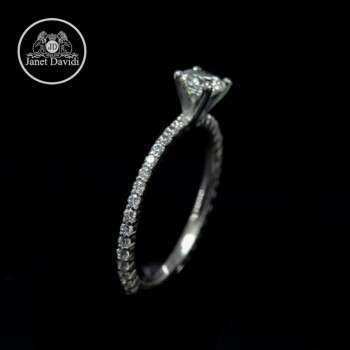 Antique Inspired Narrow Engagement Ring