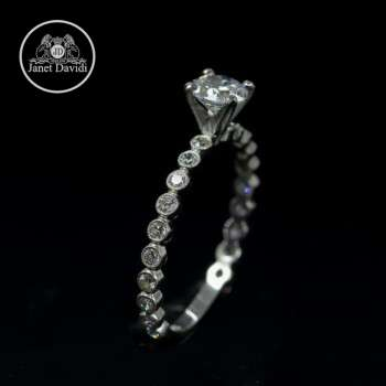 Diamond Mill Grained Engagement Ring