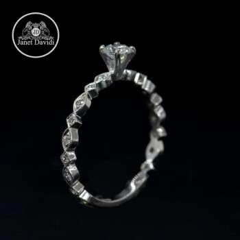 Narrow Engagement Ring
