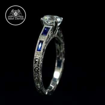 WG Blue Sapphire and Diamond