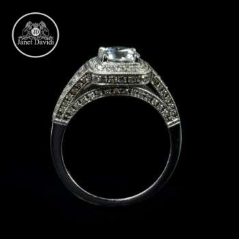 14/18K White Gold Pave Diamond