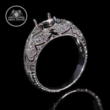 Art Nouveau Style Engagement Ring