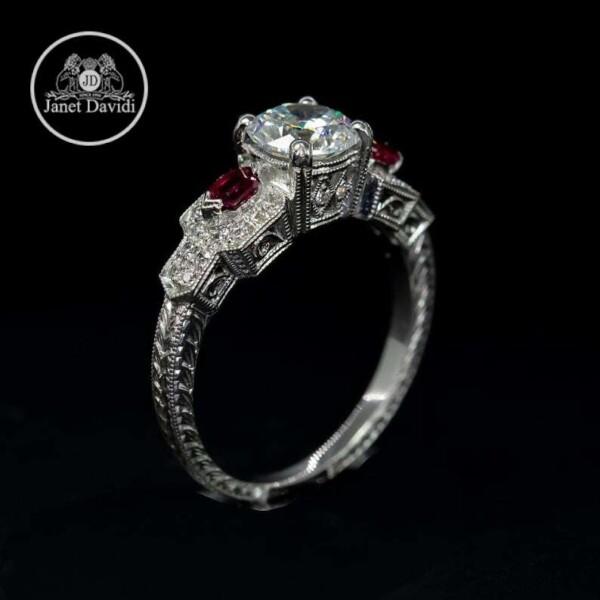 14 or 18 K Genuine Ruby