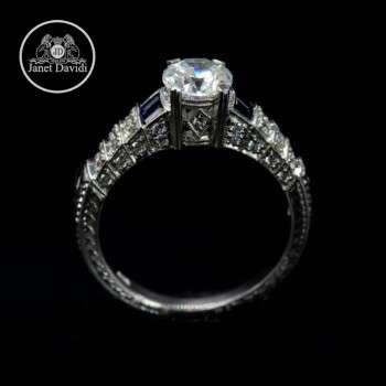 WG Diamond and Blue Sapphire