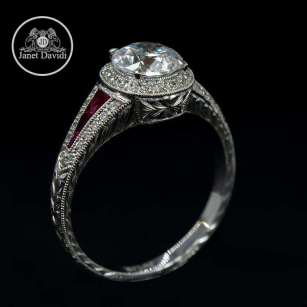 Ruby Halo Mill Grained