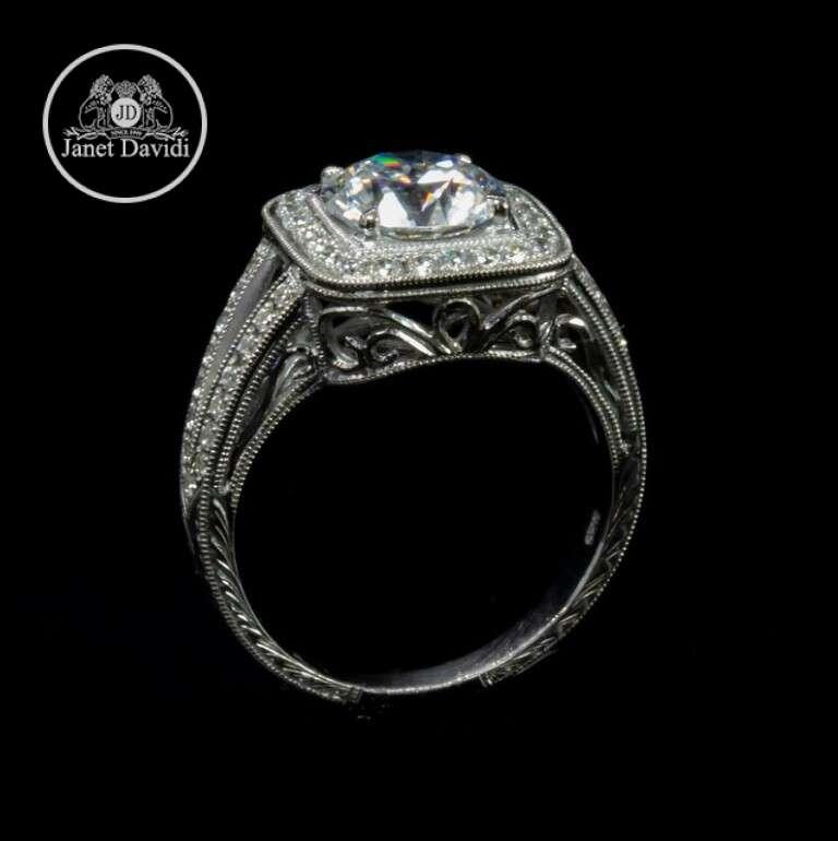 White Gold Diamond Filigree Hand