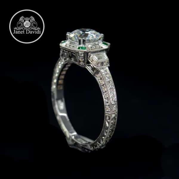 WG Emerald and Diamond Mill Grained