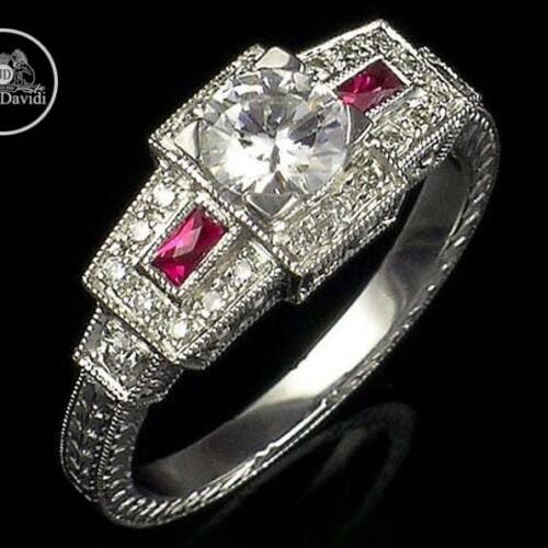 gold or Platinum Genuine Gemstone