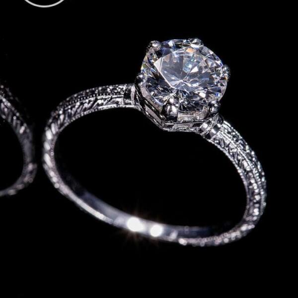 18KW Gold or Platinum Ring