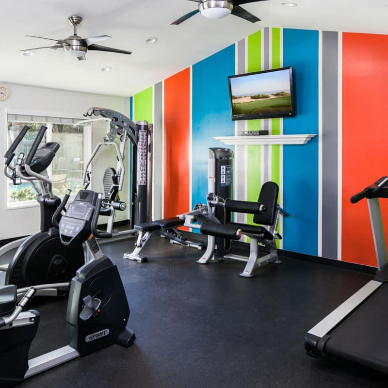 Fitness Center with complete exercise equipments